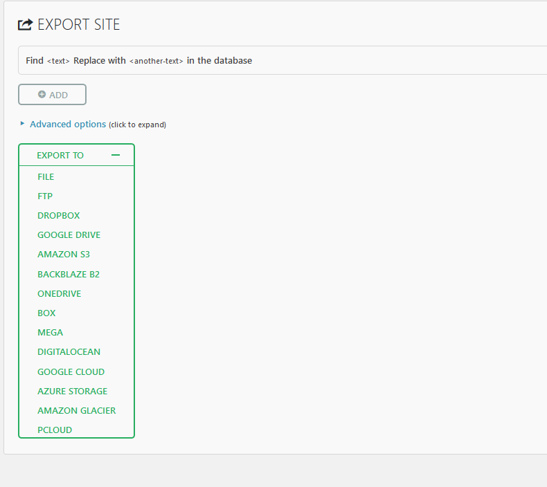 All-in-One WP Migration Export and Import