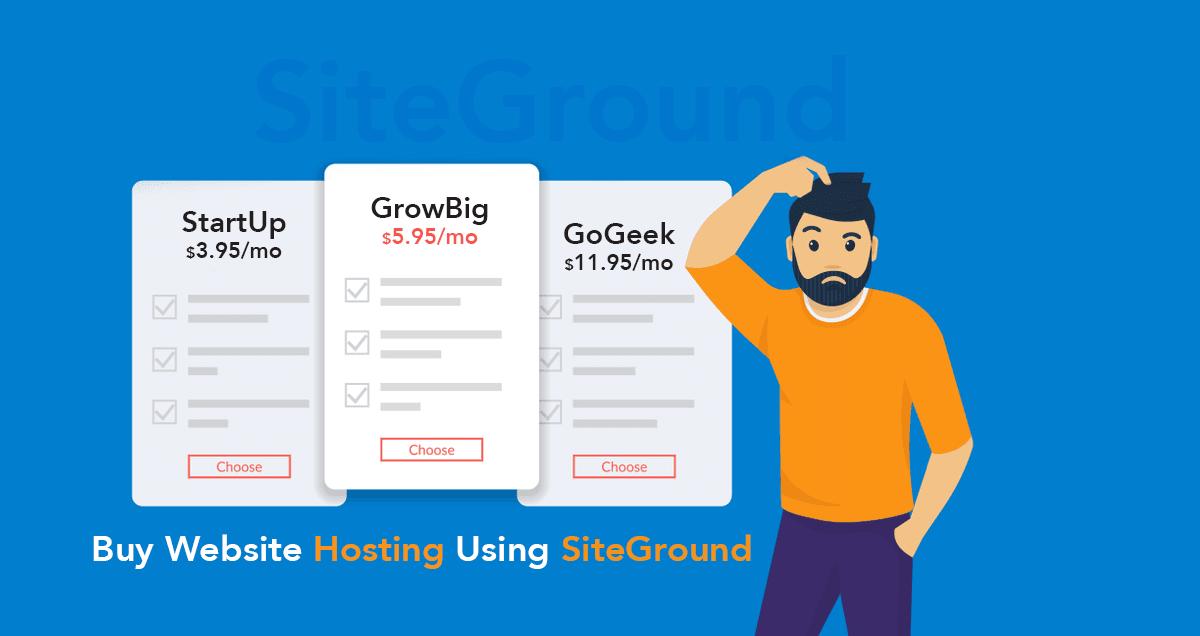 Buy Website Hosting Using SiteGround